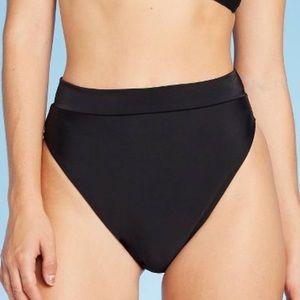 Xhilaration Black  Hi Leg Hi Waist Bikini Bottom